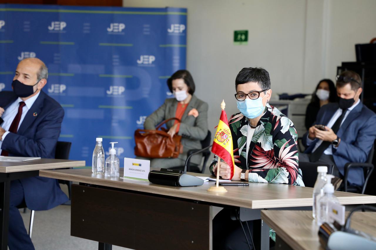 España da total apoyo al Sistema Integral de Verdad, Justicia, Reparación y no Repetición